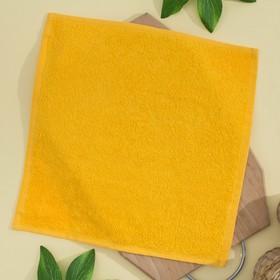 Салфетка махровая, 30х30 см, цвет ярко-желтый Ош