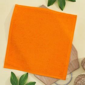 Салфетка махровая, 30х30 см, цвет апельсиновый Ош