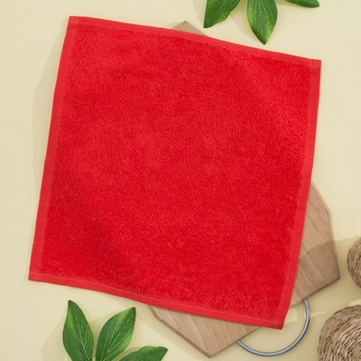 Terry cloth 30x30 cm, colour orange-red, PL 380 gr/m2, 100% cotton
