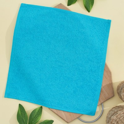 Terry cloth 30x30 cm, turquoise, 100% cotton, 380 g/m2