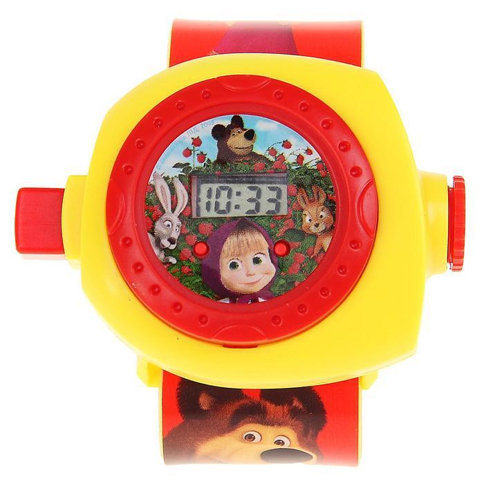 """Часы детские """"Маша и Медведь"""" с проекцией МИКС B1266129-R3"""
