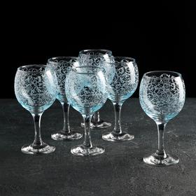 """Набор фужеров для вина 260 мл """"Лиана"""", 6 шт, гравировка"""