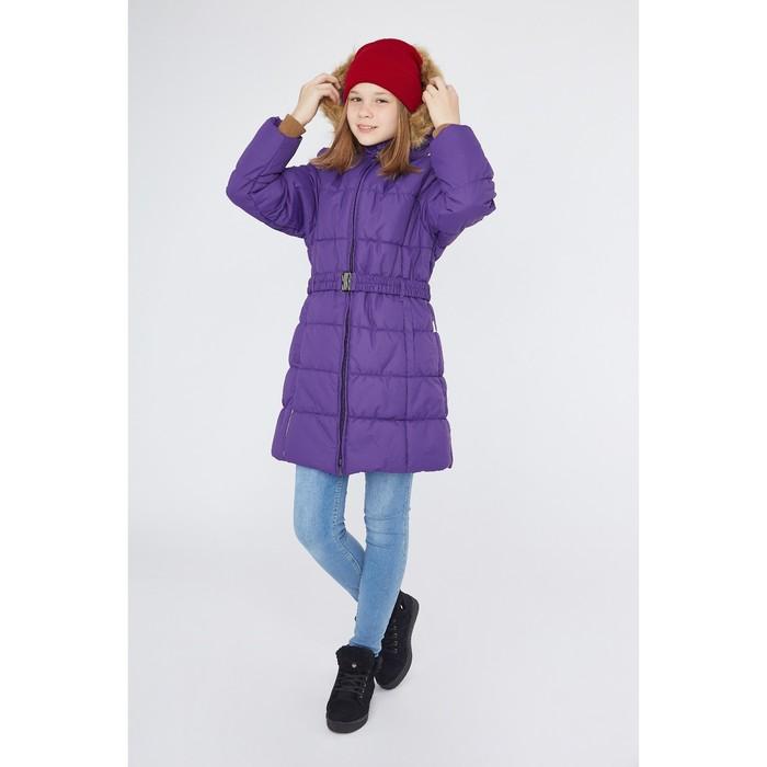 Куртка утепленная (пальто) YACARANDA 70053 лиловый, рост 164 см