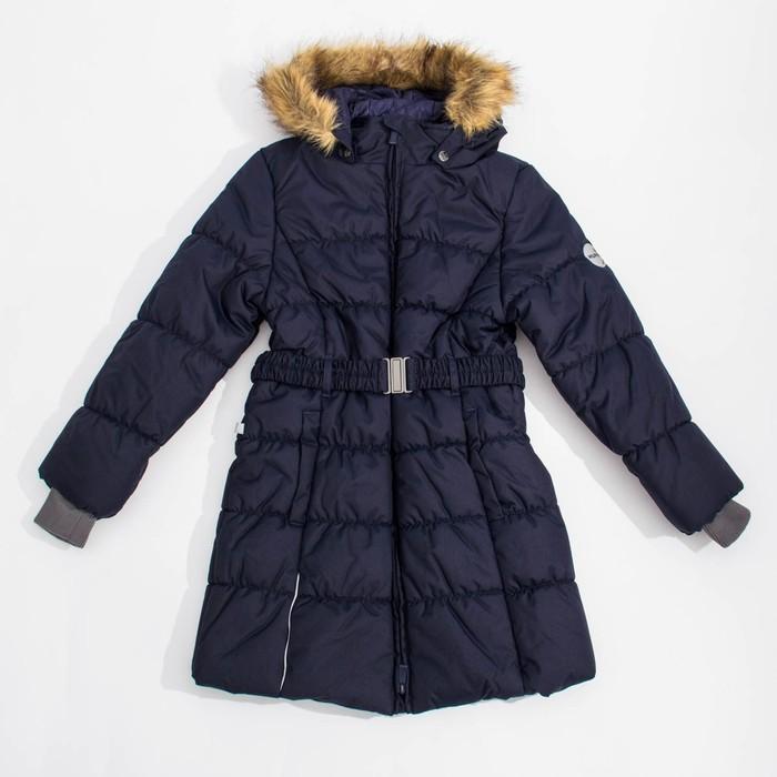 Куртка утепленная (пальто) YACARANDA 70086 т-синий, рост 128 см