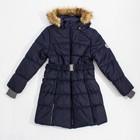 Куртка утепленная (пальто) YACARANDA 70086 т-синий, рост 146 см