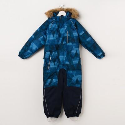 """Комбинезон для мальчика """"FENNO"""", рост 98 см, цвет тёмно-синий с принтом 72486"""