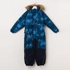 """Комбинезон для мальчика """"FENNO"""", рост 134 см, цвет тёмно-синий с принтом 72486"""