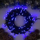"""Гирлянда """"Клип-лайт"""" уличная УМС, 100 м, LED-1000-24V, нить тёмная, свечение синее"""