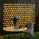 """Гирлянда """"Сеть"""" уличная УМС 2 х 1.5 м, 3W LED-192-220V, нить прозрачная, свечение тёплое белое"""