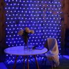 СЕТЬ, уличная УМС Ш:2м, В:3м, Н.С. 3W LED-384-220V, СИНИЙ
