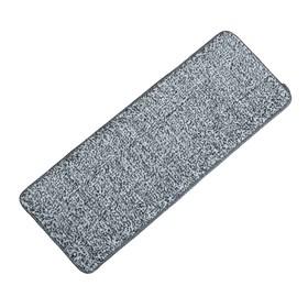 Насадка для плоской швабры 31×10 см, микрофибра цвет серый - фото 4647598
