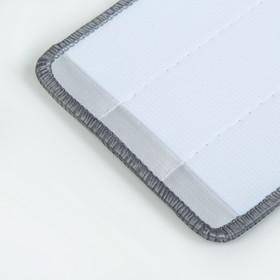 Насадка для плоской швабры 31×10 см, микрофибра цвет серый - фото 4647600