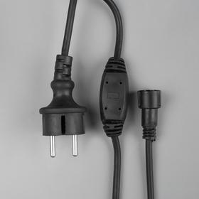 """Шнур питания для гирлянд """"Бахрома"""" до 6000 LED, Н.Т. """"Каучук"""" 3W, фиксинг"""