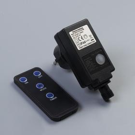 Трансформатор уличный для гирлянд с пультом 220/24 В, 6 Вт, Н.Т. 2W, чёрный