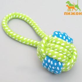 Мячик из каната с ручкой, 6 см, до 30 г, микс цветов Ош