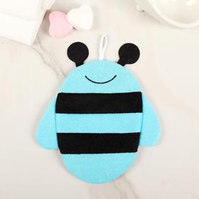 Мочалка-варежка детская Доляна «Пчёлка», цвет МИКС