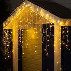 "Гирлянда ""Бахрома"" уличная, УМС, 3 х 0.9 м, 3W LED-232-220V, нить белая, свечение тёплое белое"