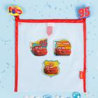 """Сетка для хранения игрушек """"Юный гонщик"""" Тачки +набор объемных наклеек"""