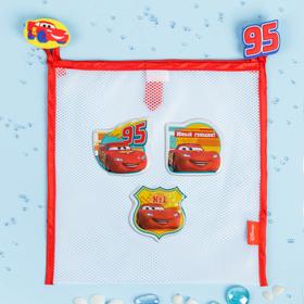 Сетка для хранения игрушек 'Юный гонщик' Тачки +набор объемных наклеек Ош
