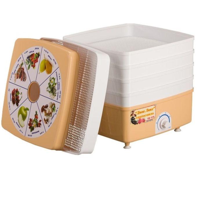 Сушилка для овощей и фруктов Ротор Дива Люкс СШ-010, для овощей, объем 17 л, 520 Вт