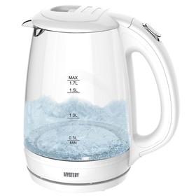 Чайник электрический Mystery MEK 1642, 1800 Вт, 1.7л, подсветка, белый