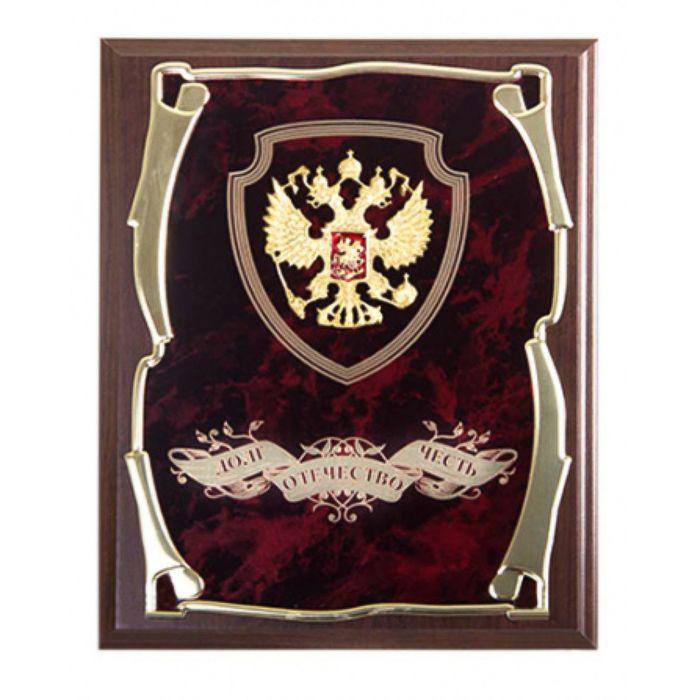 Панно с гербом «Долг, Отечество, Честь»