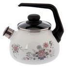 Чайник со свистком «Весенний романс», 2 л, фиксированная ручка - фото 690371