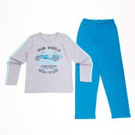 Пижама для мальчика, рост 164 см, цвет серый меланж CAJ 5296