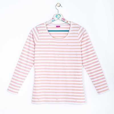Джемпер женский 638 цвет белый/розовый, р-р 44