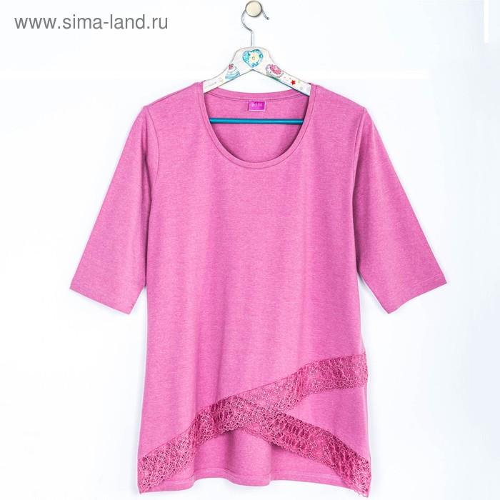 Джемпер женский 634 цвет розовый меланж, р-р 44