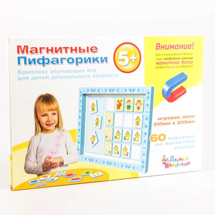 """Обучающая игра """"Магнитные Пифагорики"""" 5+ Доп.набор 1663"""