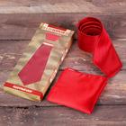 """Подарочный набор: галстук и платок """"С 23 Февраля"""""""