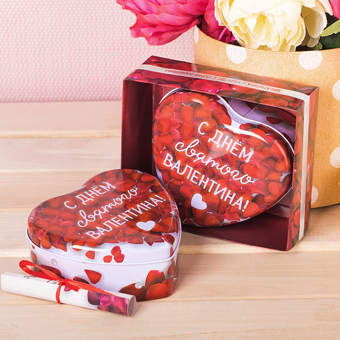 """Шкатулка и открытка """"С любовью!"""" в подарочной коробке"""