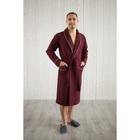 Халат мужской, шалька+кант, размер 54, кирпичный, вафля