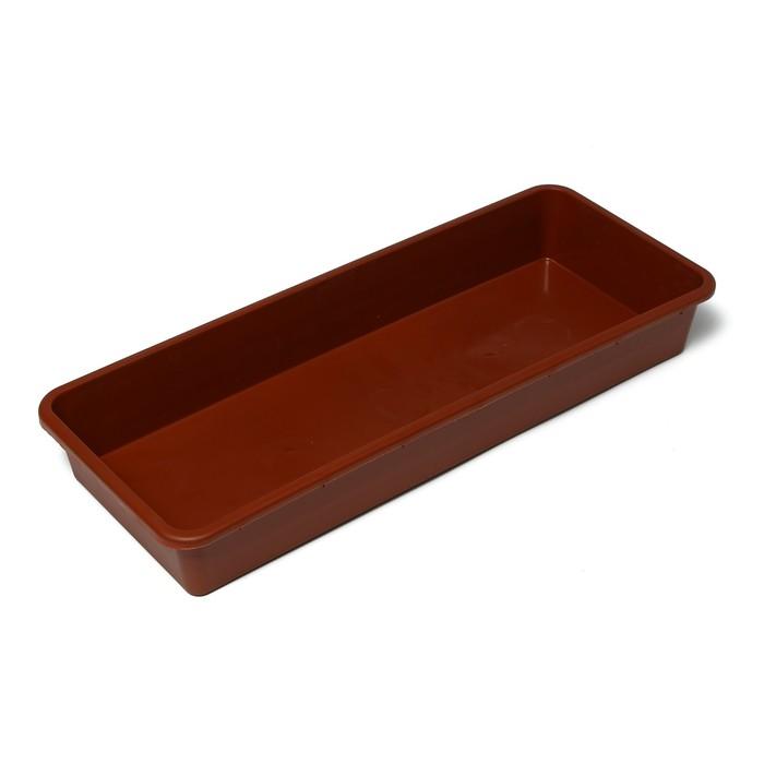 Ящик для рассады, 53 × 21,5 × 7,2 см, 7,5 л, терракотовый