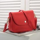 Сумка женская, 1 отдел с перегородкой, наружный карман, длинный ремень, цвет красный
