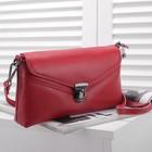 Сумка женская, 1 отдел с перегородкой, наружный карман, с ручкой, длинный ремень, цвет красный