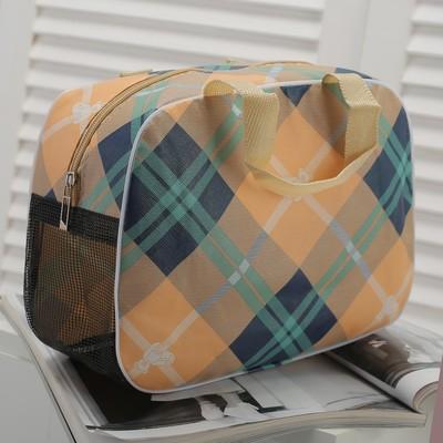 Косметичка-сумочка, отдел на молнии, цвет бежевый