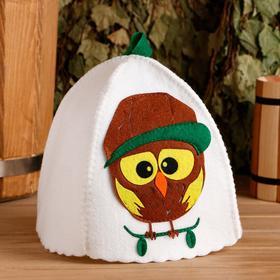 """Банная шапка с детской аппликацией """"Орландо"""", войлок - фото 1396326"""