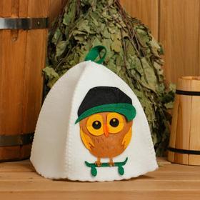 """Банная шапка с детской аппликацией """"Орландо"""", войлок - фото 3670796"""