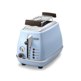 Тостер DeLonghi CTOV 2103.AZ, 900 Вт, 2 тоста, голубой