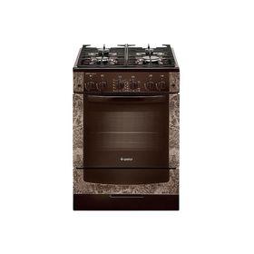 Плита газовая Gefest 6500-02 0114, 4 конфорки, 52 л, газовая духовка, коричневая