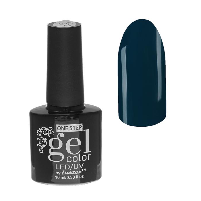Гель-лак для ногтей, 216-105-27, однофазный, LED/UV, 10мл, цвет 216-105-27 тёмно-зелёный