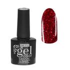 Гель-лак для ногтей, 216-187-37, однофазный, LED/UV, 10мл, цвет 216-187-37 розовый с блёстками