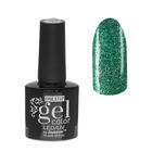 Гель-лак для ногтей, 216-212-44, однофазный, LED/UV, 10мл, цвет 216-212-44 зелёный с блёстками