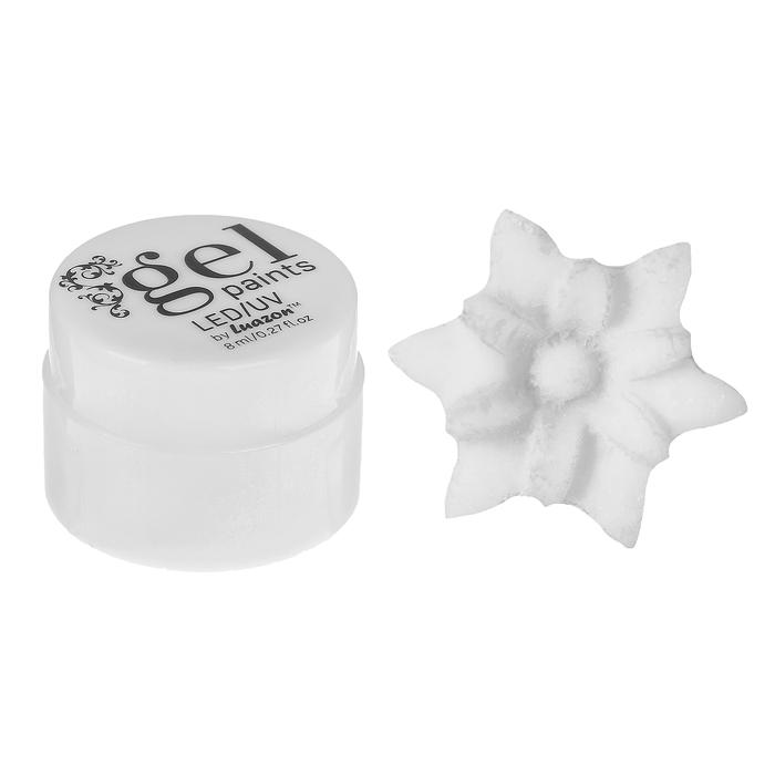 Гель для дизайна ногтей, 4D, трёхфазный, LED/UV, 8гр, цвет 001 белый