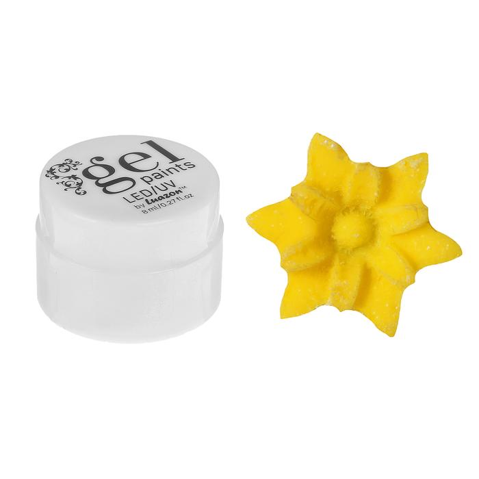 Гель для дизайна ногтей, 4D, трёхфазный, LED/UV, 8гр, цвет 007 жёлтый