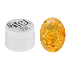 Гель-лак для ногтей, с сухоцветами, трёхфазный, LED/UV, 8мл, цвет 5 жёлтый
