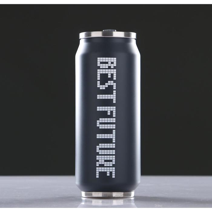 """Термокружка """"Пиксель"""", 450 мл, с поильником, микс, 7х20 см (+/- 50мл)"""