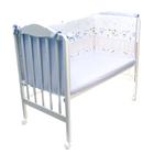 """Борт """"Конфетти""""размер 360х52, цв голубой, сатин хл100, холлофайбер 400гм 114/1"""